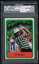Gil Morgan signed autograph 1982 Donruss Golf Trading Card PSA/DNA Slabbed