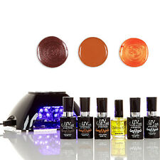 UV-NAILS Salon Quality Gel Polish Starter Kit V10-B-1  G58, GL14, GL3