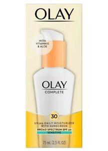 Olay Complete SPF 30 Defense Daily UV Moisturizer Sensitive 2.5oz Exp:03/23