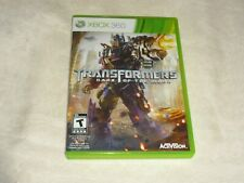 TRANSFORMERS DARK OF THE MOON  (XBOX 360, 2011) COMPLETE