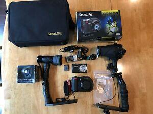 Sealife dc1400 camera, underwater camera, underwater flash and video light