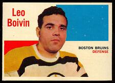 1960-61 TOPPS HOCKEY #62 Leo Boivin EX-NM Boston Bruins card