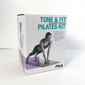 FILA Tone & Fit Exercise Pilates Kit Core Reformer Body Sculpting Ball Bands