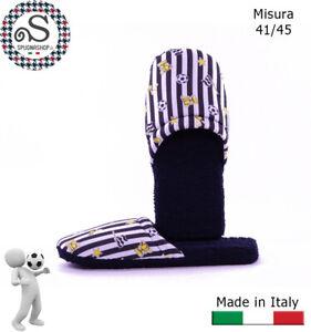 Ciabatte, ciabattine, Pantofole Uomo 41/45 Idea Regalo Bianco Nero TIFOSO Juve