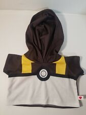 Build-A-Bear Pokemon Meowth QUICKBALL HOODIE Clothing Gamer Collector NEW NWT