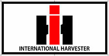 VINTAGE INTERNATIONAL HARVESTER LOGO TRACTOR BANNER