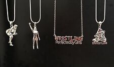 Girls Wrestling Sterling Silver Charm Necklaces - Set of 4 - New - FREE SHIPPING