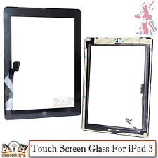 Replacement Touch Screen Digitizer + Home Button + Adhesive For iPad 3/4 - Black