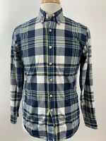 J. CREW Factory Button Down Shirt Mens Size S Long Sleeve Plaid Small