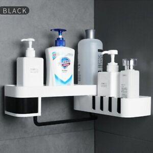 Bathroom Corner Shelf ABS Plastics Durable Wall Mounted Rotatable Storage Rack