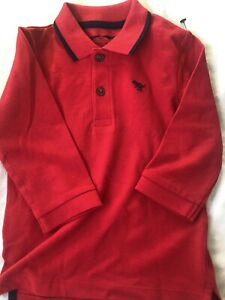 Next Baby Boy Red Polo Long  Sleeves Tops 9-12 Months NEW