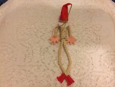 Unique Vintage braided Pixie Elf Doll - Christmas Ornament - Japan