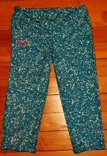 Under Armour Women's Fitted All Season Gear Capris Star Confetti Pattern Print L