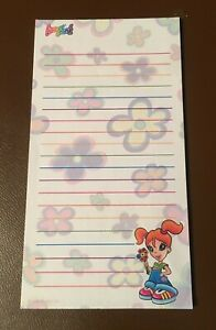 RARE Vintage Lisa Frank Stationery Lined Notepad Paper Girl with Flowers