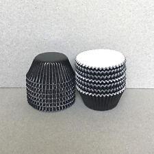 MINI Black Foil Cupcake Liners, Black Mini Cupcake Wrappers, Black Candy Cups