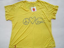 NWT LIFE YOU WANT YELLOW V-NECK TEE T-Shirt Large L Oprah Winfrey's Peace Love