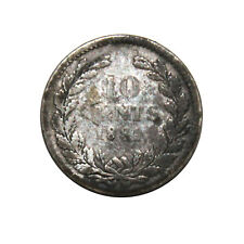 KM# 80 - 10 Cents - Silver (.640) - Willem III - Netherlands 1889 (Poor)