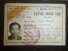 Id Card - Electricity Meter Reader - Saigon - Thai Van Tu - Vietnam War, 2598