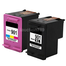 2x HP 901XL Ink Cartridges for Officejet 4500-G510 J4524 J4535 J4580 J4680 chip