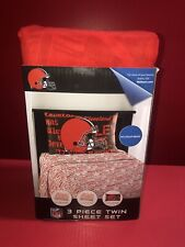 1 Count Northwest Co. Nfl Cleveland Browns 3 Piece Twin Microfiber Sheet Set New
