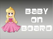 Aurora Baby on Board / Sleeping Beauty / Vinyl Vehicle Window Kids Graphic Decal