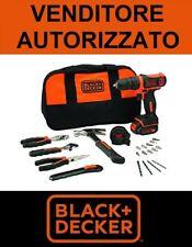 Trapano Avvitatore BLACK+DECKER 10.8V + borsa + 20 accessori mod. BDCDD12HTSA-QW