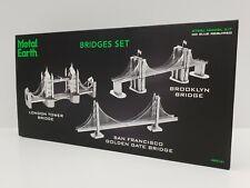 Bridges Set- Metal Earth Steel Model Kit- 2017- London, San Francisco, Brooklyn