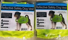 2 Reflective Safety Dog Vests Fluorescent Yellow  by Dukes Products (Large)