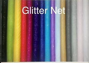 GLITTER TULLE NET BEAUTIFUL FABRIC CRAFT DIY DANCE SEWING GLITTER SHINY 140 WIDE