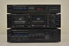 1980s Kenwood Hi-Fi Component System Amp Tuner Cassette KX-644W KA-54 KT-54 LOOK