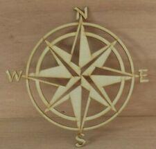 Nautical compass - unfinished wood cutout