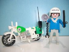 """lot n°169"" la moto de police ancienne et son motard playmobil"