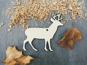 Laser Plywood Christmas Reindeer Shape x 10, 4mm Plywood Shapes Wood Shapes