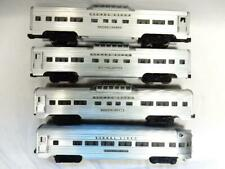 POSTWAR LIONEL 2532 SILVER RANGE VISTA DOME  PASSENGER TRAIN SET, C-7 EXCELLENT+