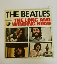 """THE BEATLES - THE LONG AND WINDING ROAD -  7""""  APPLE  3C006-04514M  ITALIA  1970"""