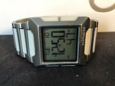 Nixon The Block SS Watch Silver/White *Rare*
