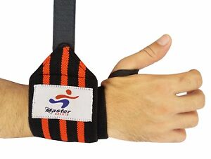 Master Weight Lifting Training Gym Wrist Straps Support Grip Glove Body Building