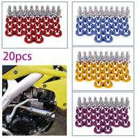 20 PCS Anodized Aluminum Fender Washers & Bolts Engine Auto  M6x20 Kits Tools