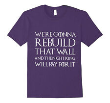 Game of Thrones REBUILD THAT WALL Purple T-Shirt 2XL Hanes Cotton GOT