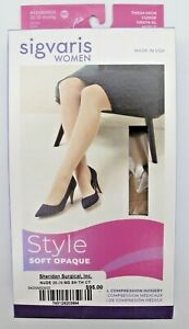 Sigvaris MS 20-30 mmHg Nude Style Soft Opaque Compression Socks 842 Thigh