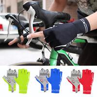 Ee _ Eg _ Unisex Sports Guantes Ciclismo Medio Dedo Bicicleta Equitación Mitones