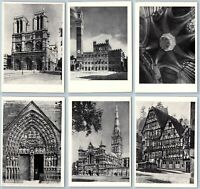 1973 GOTHIC ARCHITECTURE OF EUROPE Notre-Dame de Paris SET 16 Russian postcard