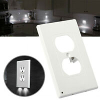 Night Angel Light Wall Outlet Coverplate With 2 LED Night Lights (Auto on/off)