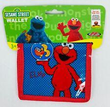 Elmo Sesame Street Wallet- Kids Bi-Fold Plastic Wallet