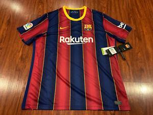 2020-21 Nike Breathe FC Barcelona Men's Home Soccer Jersey XXL 2XL Barca