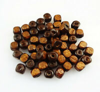 Lot 100/500pcs Coffee Wooden Cube Loose Spacer Beads Jewelry Finding DIY 4mm 5mm