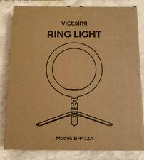 "Victsing 10"" Ring Light,Remote,Stand & Phone Holder,10 Brightness+3 Colour Modes"
