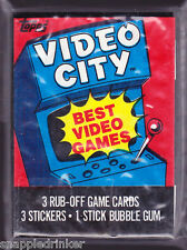 1983 Topps VIDEO CITY Complete Set with Wrapper
