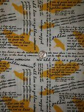 Beatles Cotton Fabric By The Quarter Yard:  Yellow Submarine w/lyrics