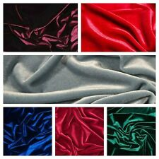 Decor Velvet Fabric Soft Strong Stretch Velour Upholstery Material -65'' wide
